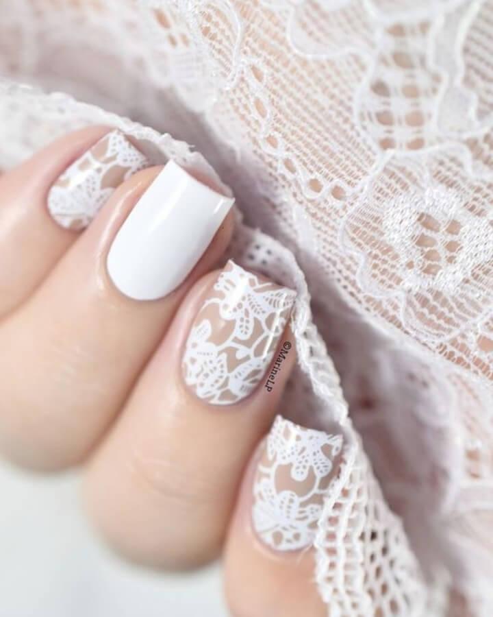 art des ongles de la mariée