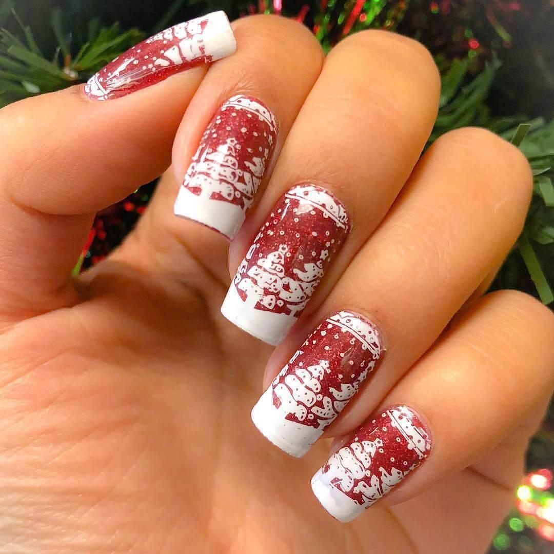 art des ongles de Noël