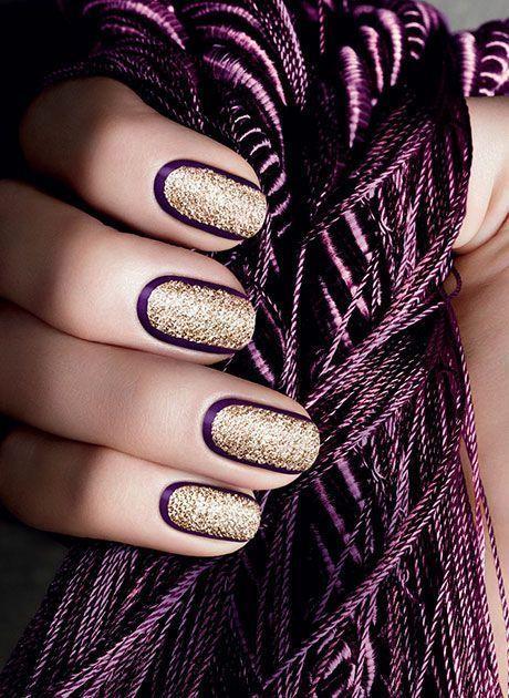 caviar de nail art doré