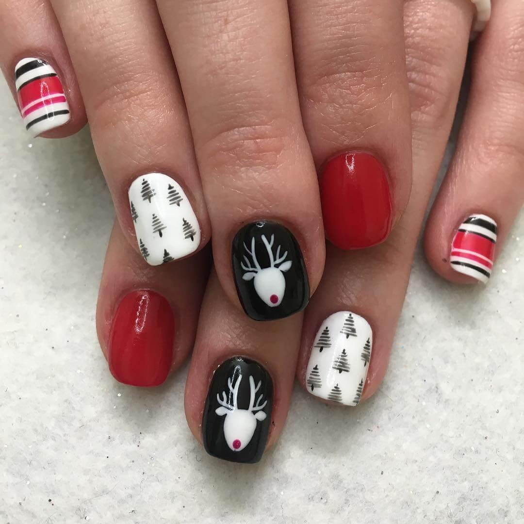 ongles avec dessins de noël