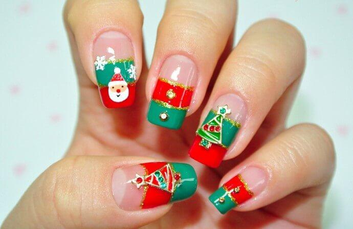 ongles décorés pour Noël