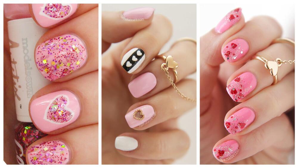 ongles avec coeur