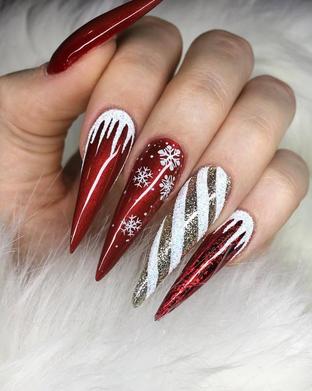 décoration d'ongles en acrylique