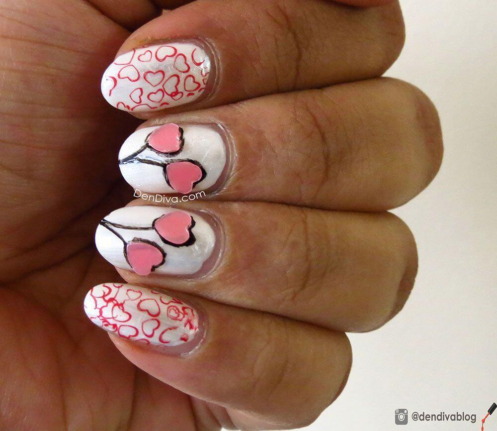 Des ongles d'amour avec des cœurs pour les romantiques! + 170 designs 8