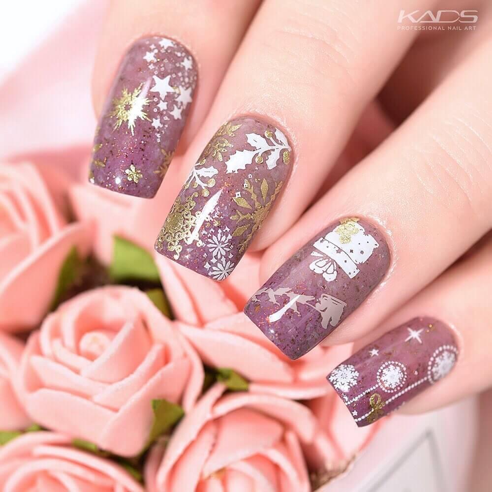 décoration de ongles de Noël