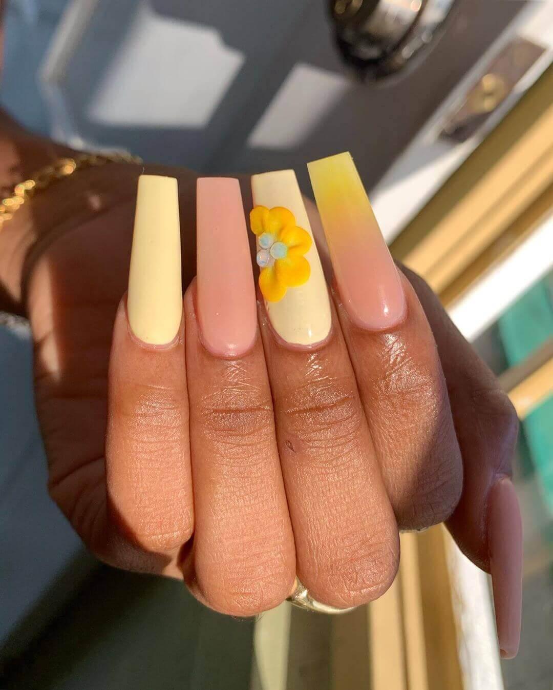 décoration des ongles longs