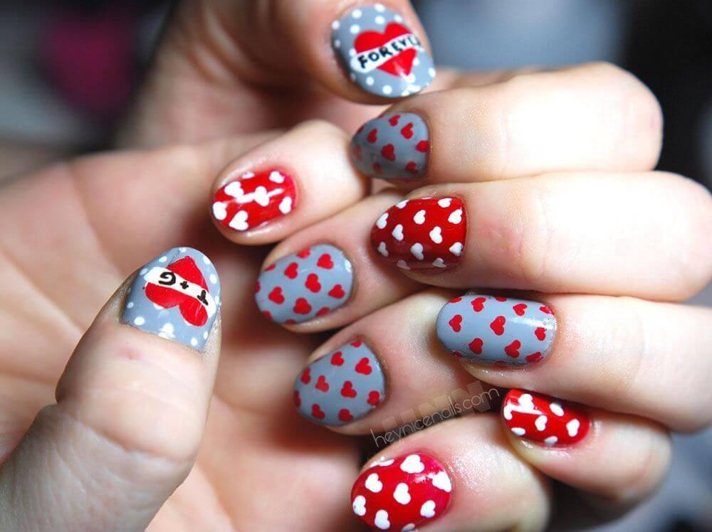 Des ongles d'amour avec des cœurs pour les romantiques! + 170 designs 7