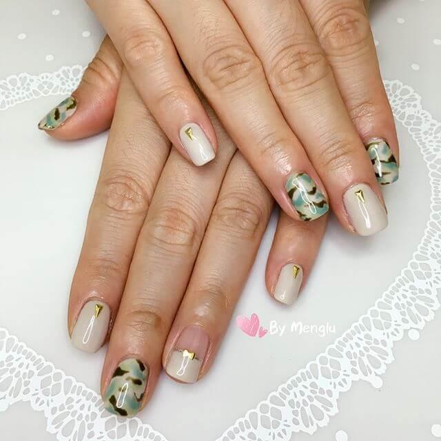des ongles en gel simples et beaux