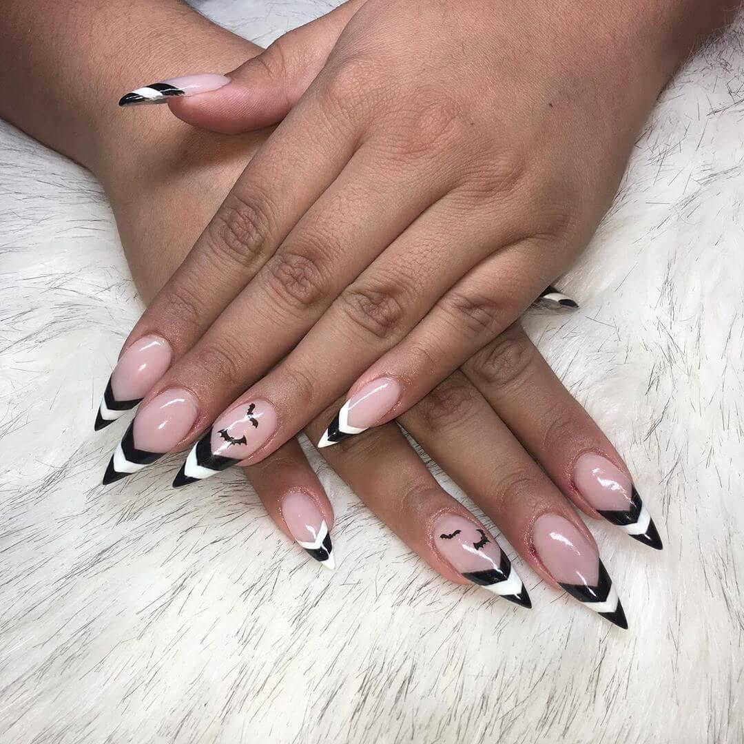 design de ongles avec morsures