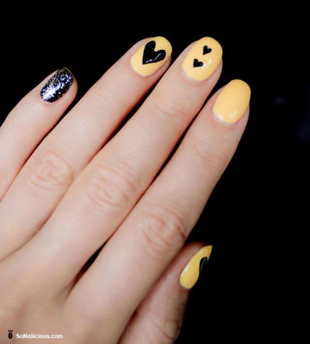 Des ongles d'amour avec des cœurs pour les romantiques! + 170 designs 20