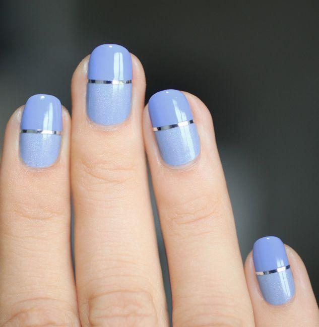 images d'ongles en bleu clair
