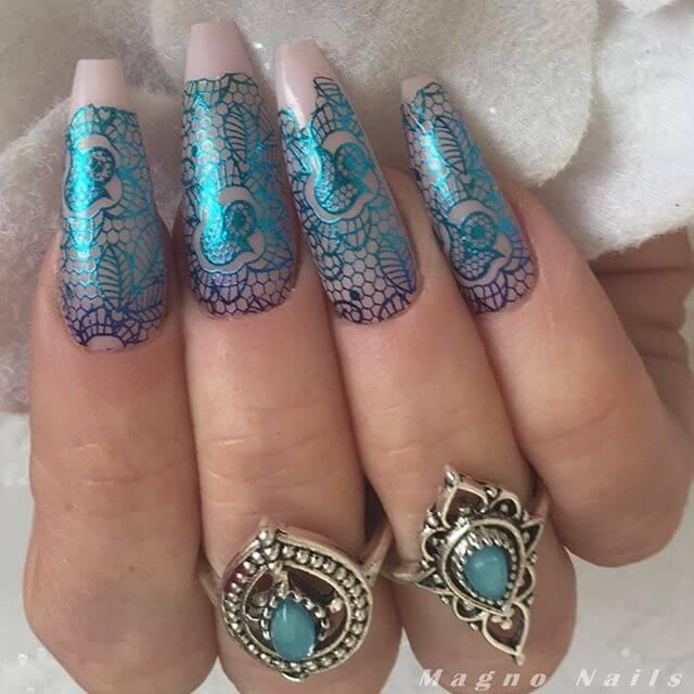 empreintes d'ongles en gel