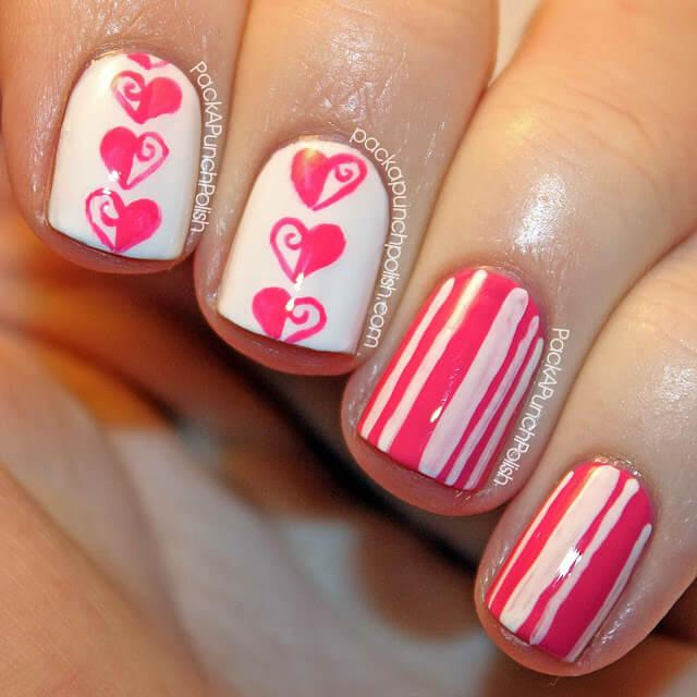 Love Nails Valentin Day nails (1)