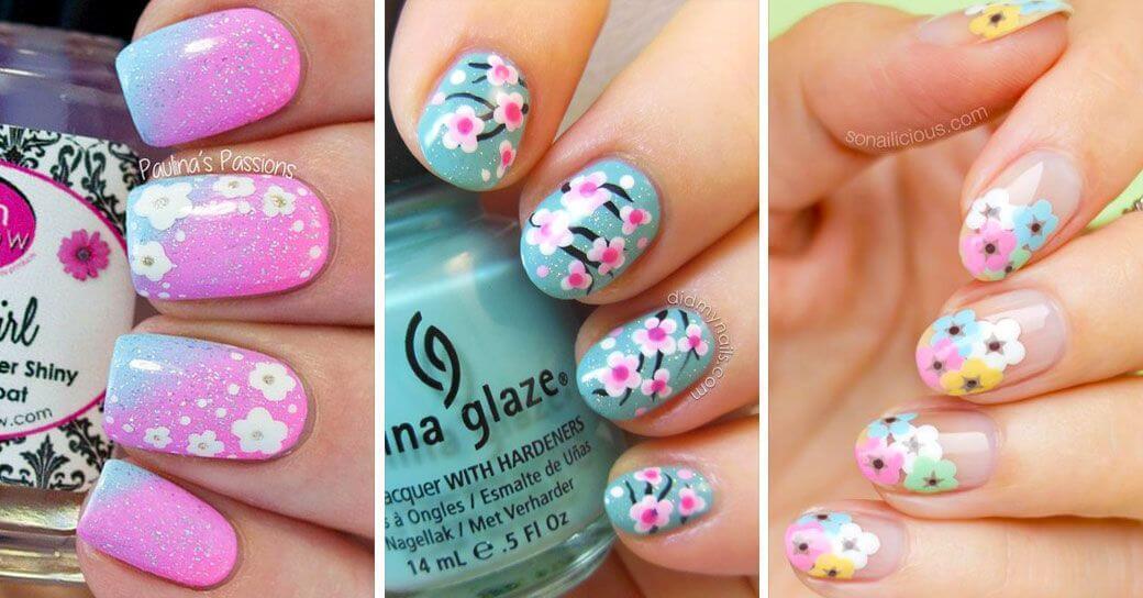 + Plus de 120 ongles décorés de fleurs 1