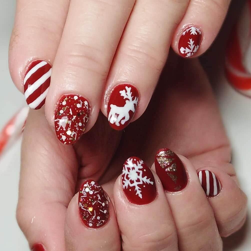 modèle de Noël rouge et blanc