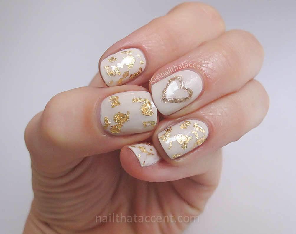 certains peints avec des coeurs de nail art (5)