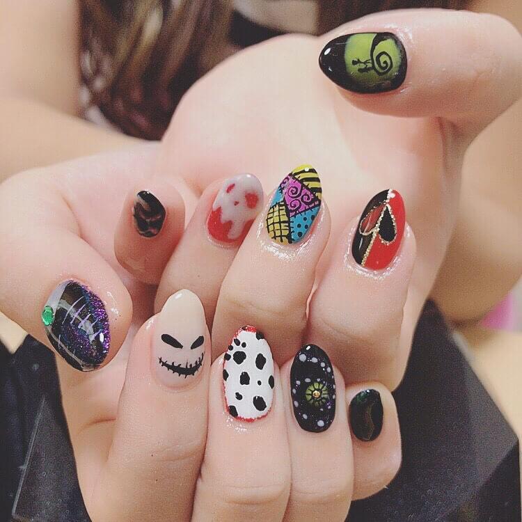 nail art professionnel d'halloween