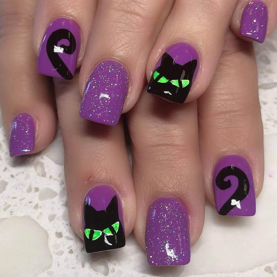 griffe de chat design halloween