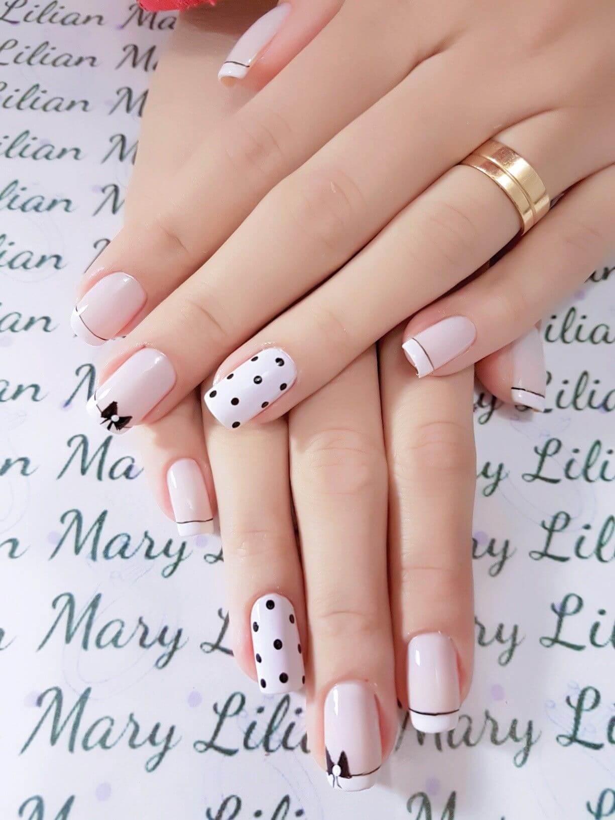 ongles avec pointes de mariée