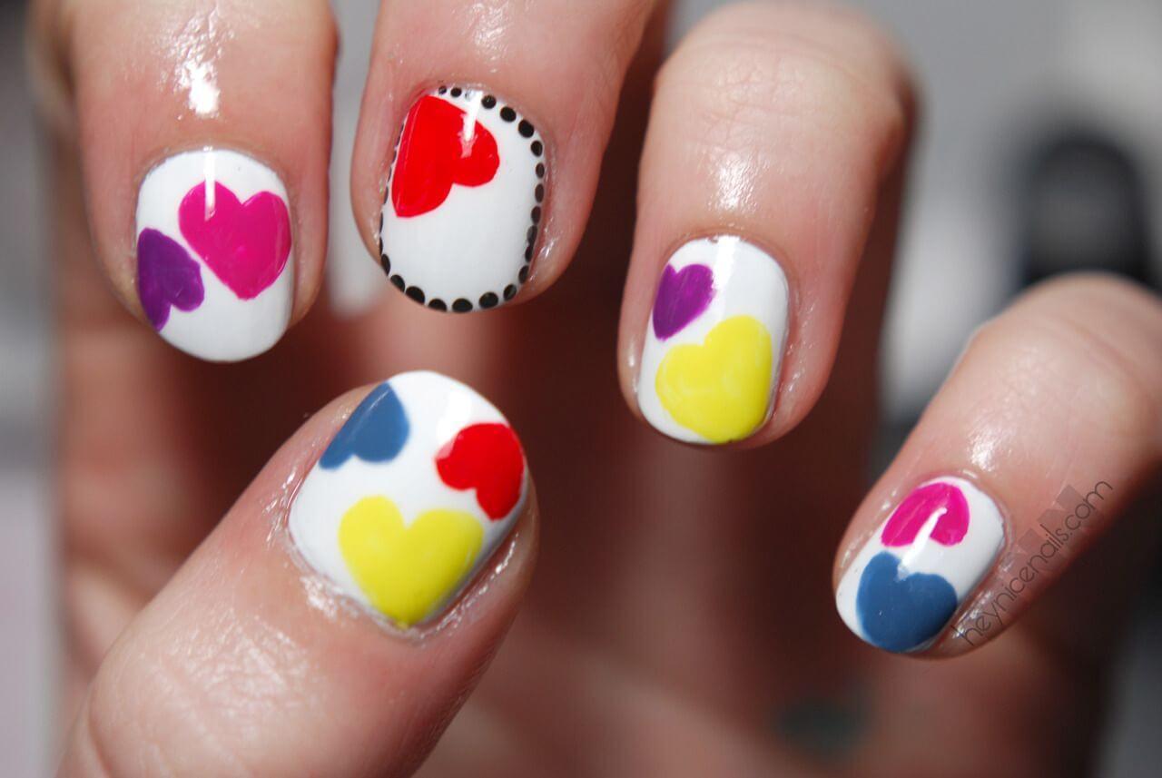 Des ongles d'amour avec des cœurs pour les romantiques! + 170 dessins 6