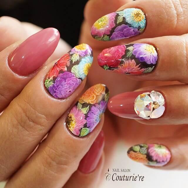 ongles colorés