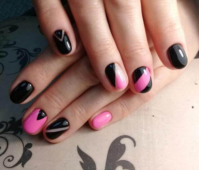 Combinaison de noir et de rose ou de fuchsia