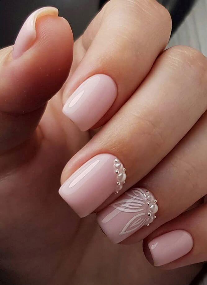 ongles nus courts pour la mariée
