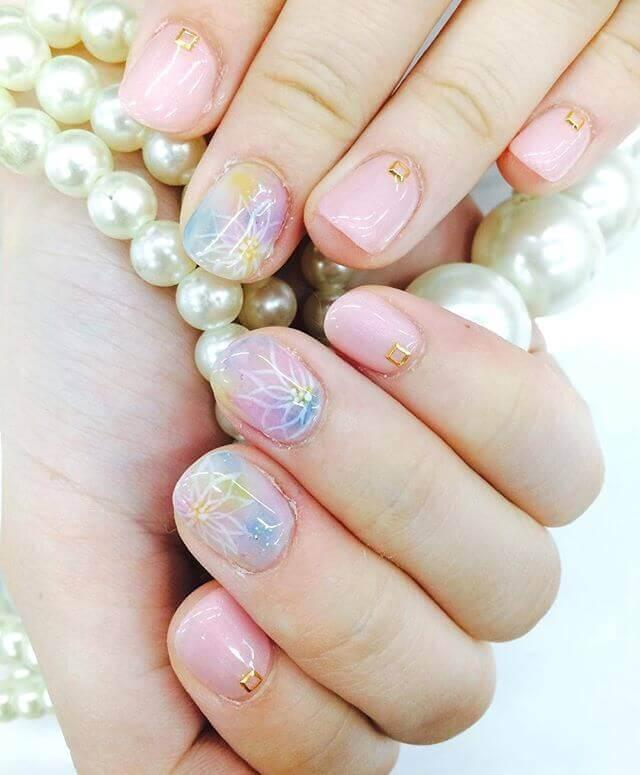 ongles courts porcelaine rose