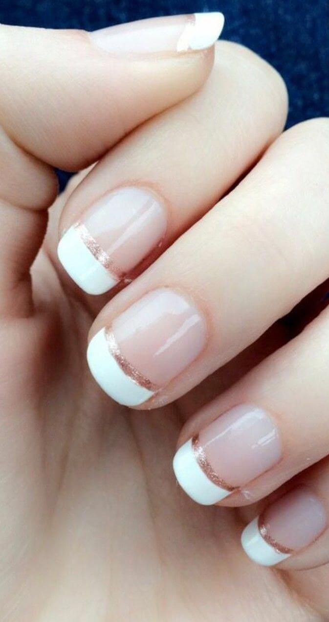ongles courts pour la mariée à la française