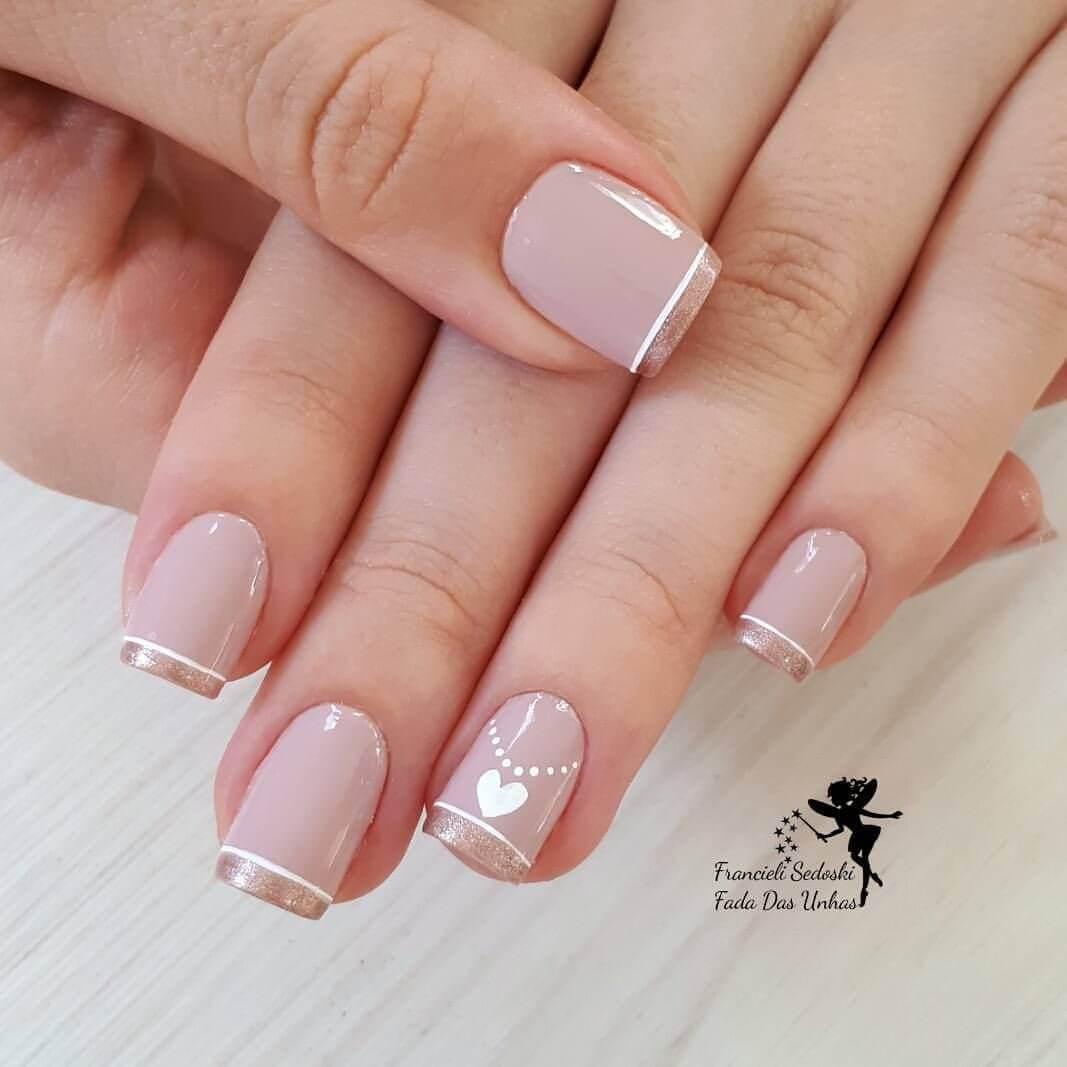 ongles courts pour la mariée