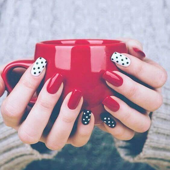 rouge-noir et blanc