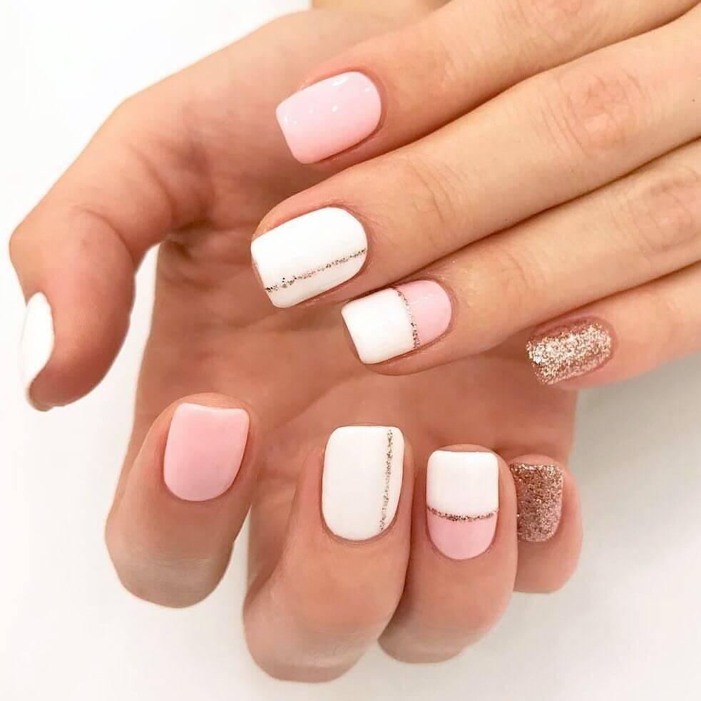 ongles courts simples pour la mariée