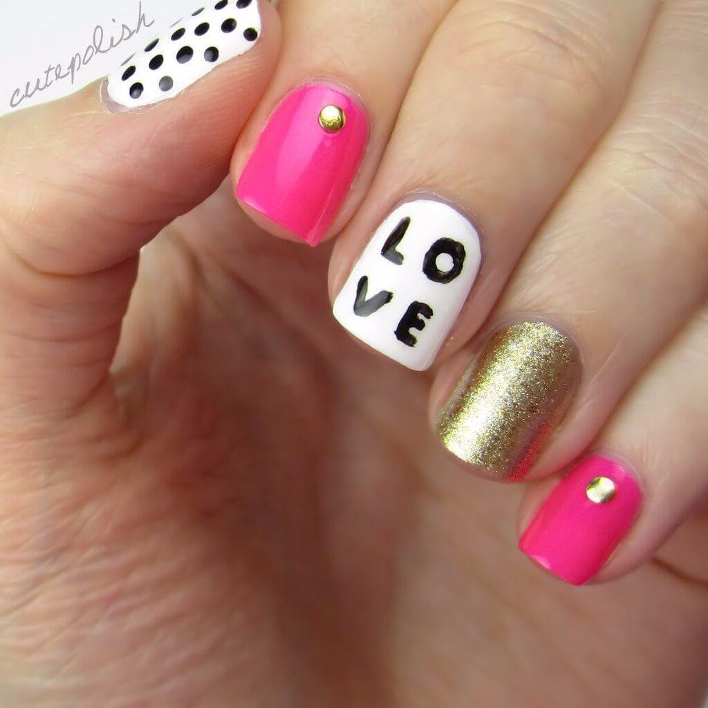 Des ongles d'amour avec des cœurs pour les romantiques! + 170 dessins 29