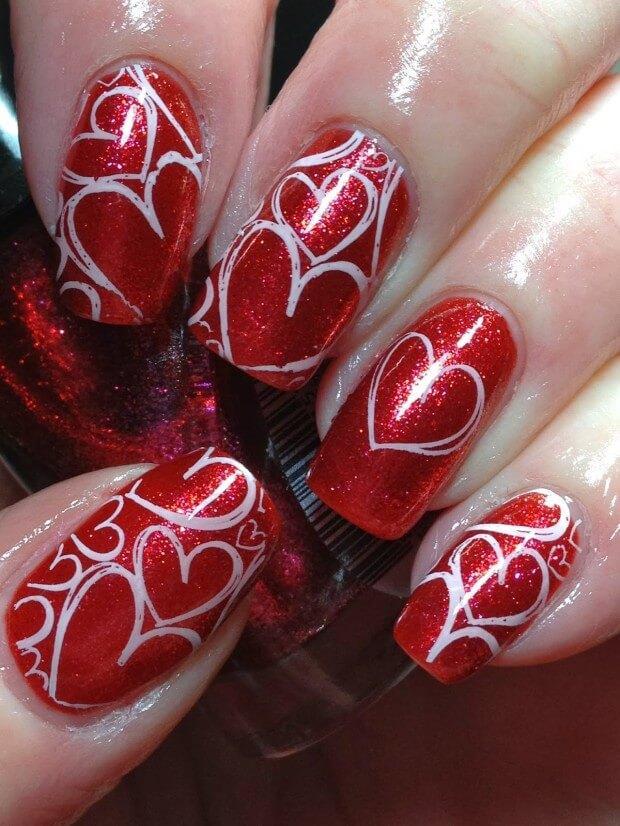 ongles d'amour jour de la saint valentin (6)