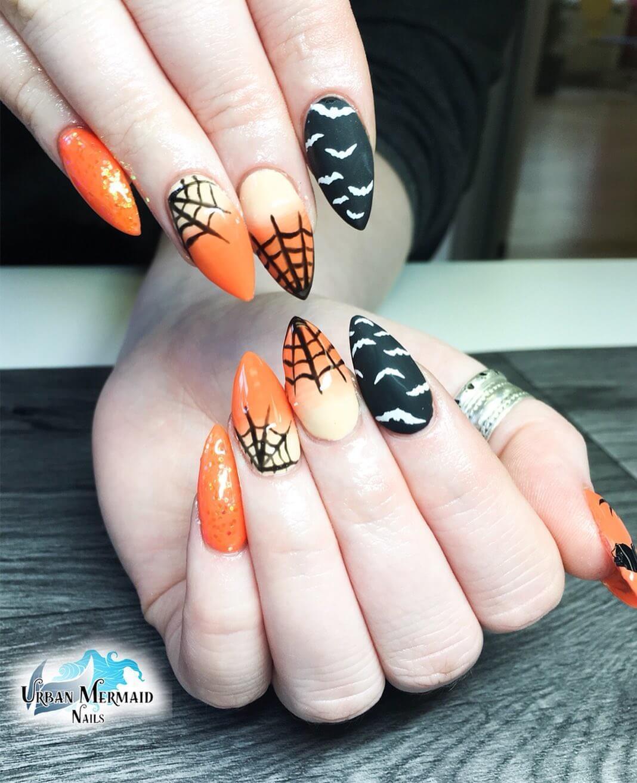 ongles de chauve-souris d'halloween