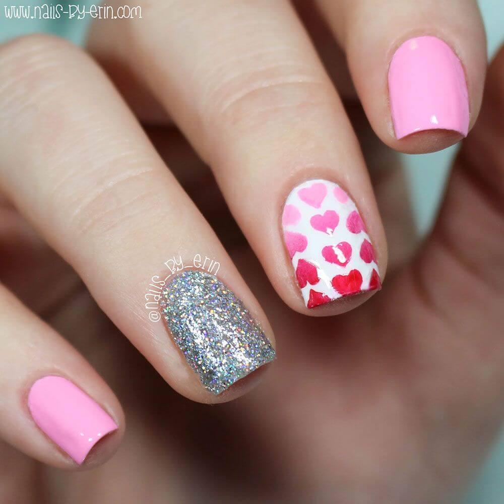 Des ongles d'amour avec des cœurs pour les romantiques! + 170 designs 26