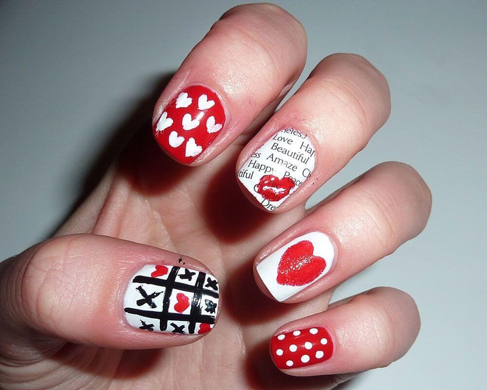 Des ongles d'amour avec des cœurs pour les romantiques! + 170 designs 31