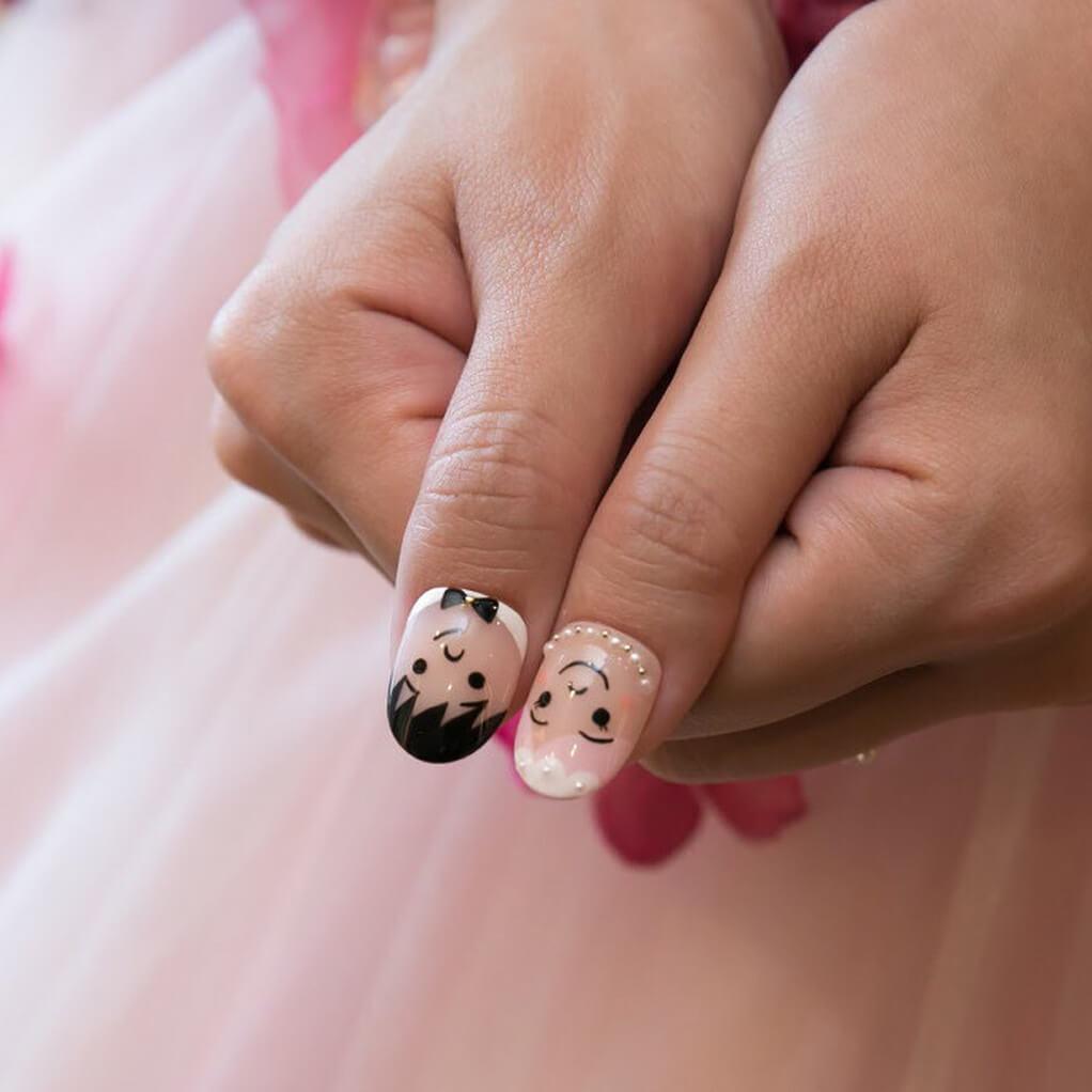 ongles de mariage