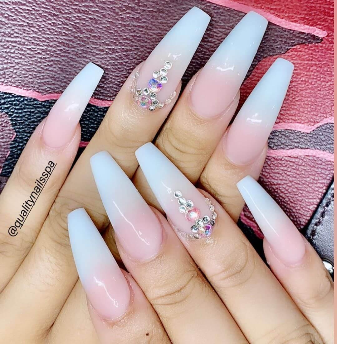 ongles de mariée ombre