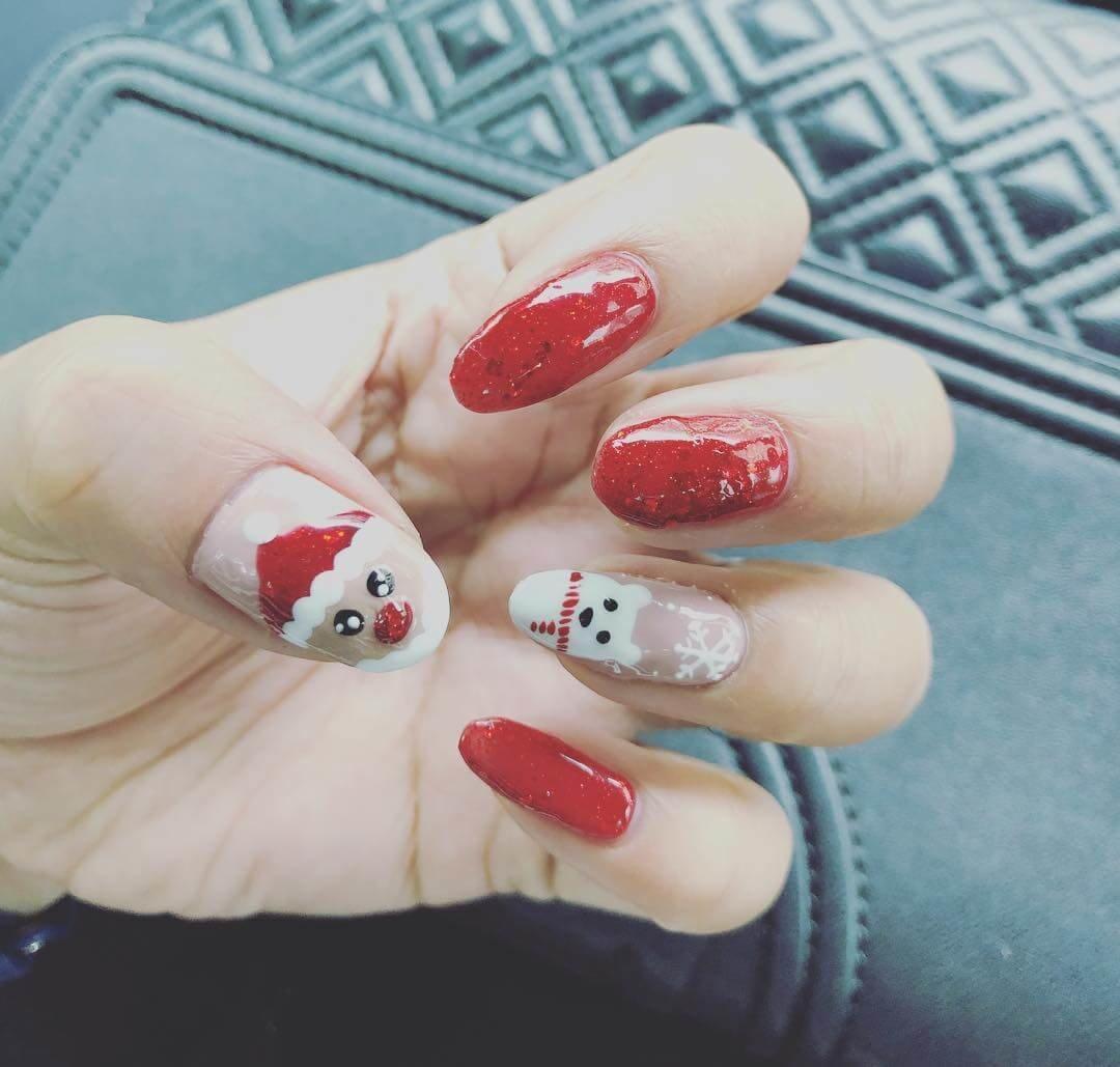 ongles de noël pour les filles