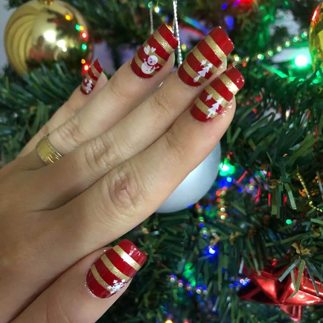 ongles de Noël simples
