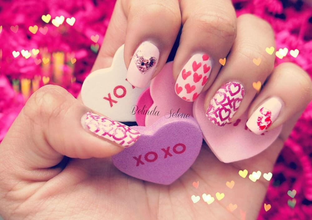 Coeurs de Saint-Valentin décorés (3)