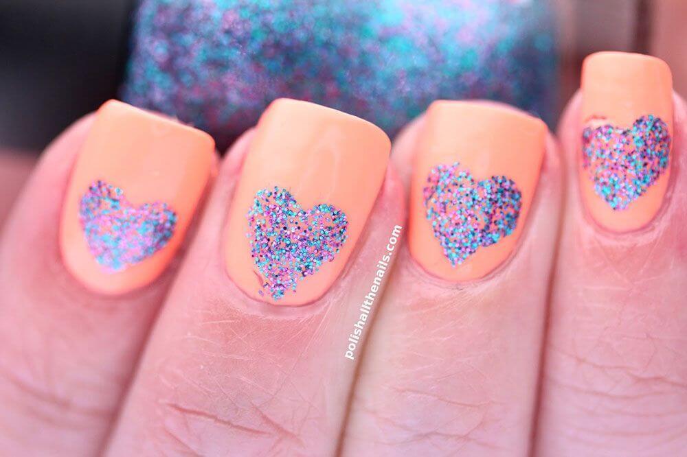 Des ongles d'amour avec des cœurs pour les romantiques! + 170 dessins 5