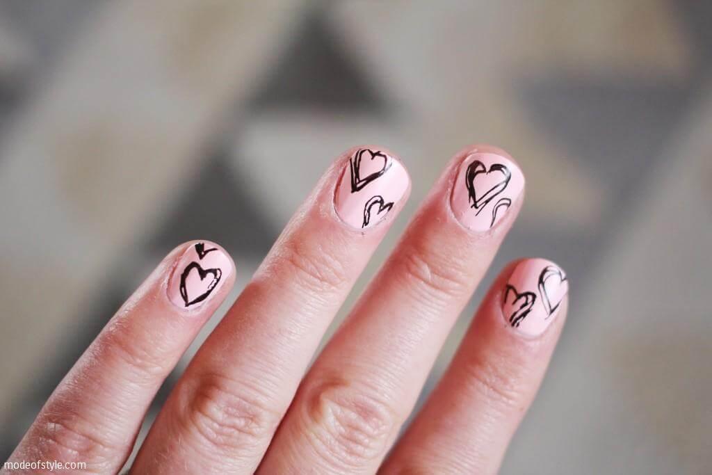 Des ongles d'amour avec des cœurs pour les romantiques! + 170 designs 3