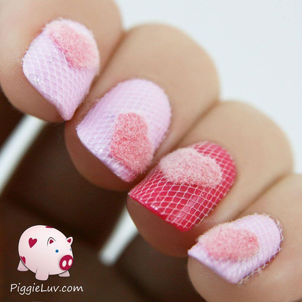 Des ongles d'amour avec des cœurs pour les romantiques! + 170 designs 27