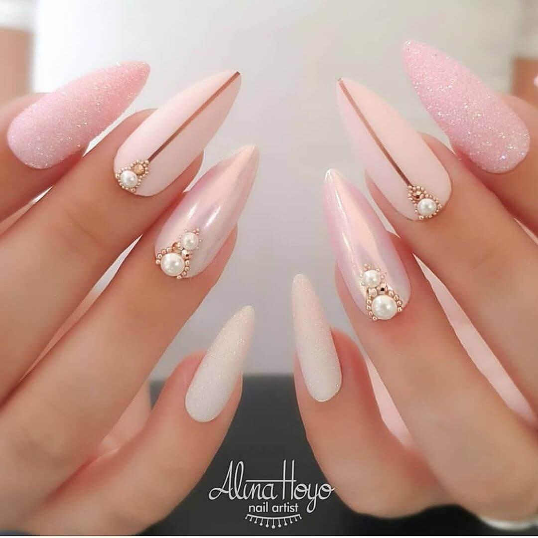 Décoration d'ongles de mariage