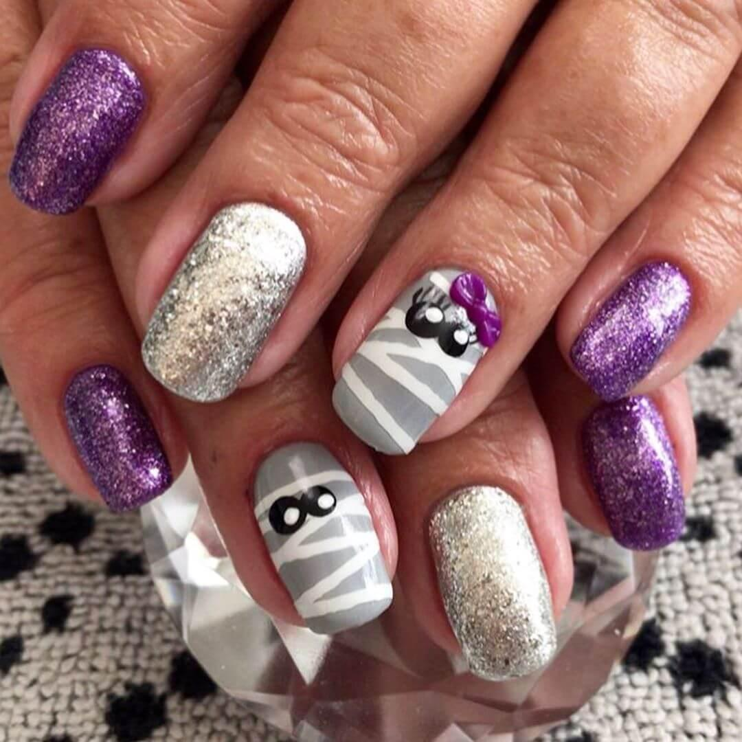 ongles d'halloween simples