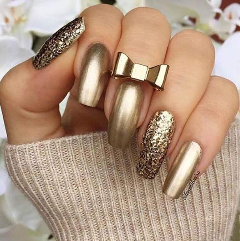 ongles dorés