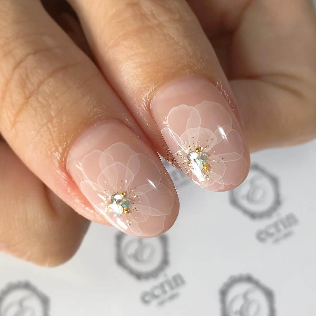ongles en fleur