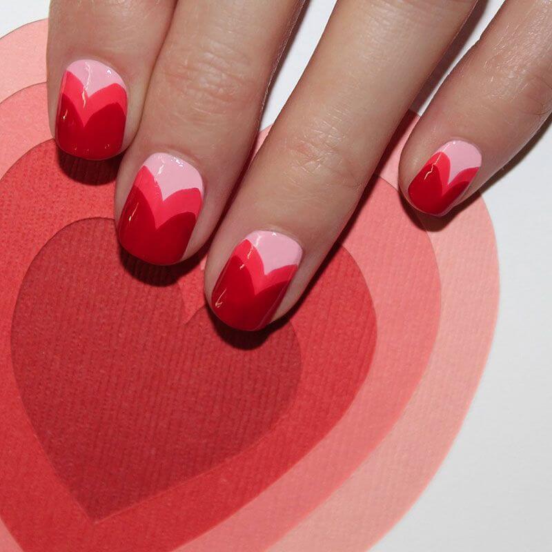 Des ongles d'amour avec des cœurs pour les romantiques! + 170 designs 24